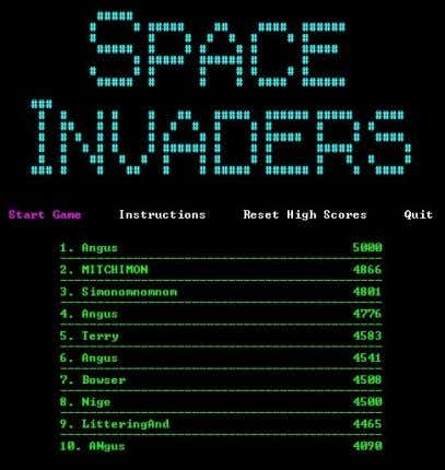 8 ) Space Invaders First Arcade Game to Record High Scores Source: Left image: Codexdex, Right