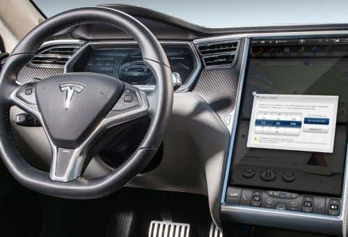 Content via Cable Tesla Over-the-Air Software Updates Source: Left image: Gamecrate, Right image: Tesla KP