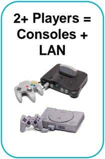 2+ Players = Consoles + LAN