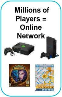 Millions of Players = Online Network