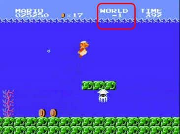 Discovering Glitches Secret Level in Super Mario Bros Source: Left Images: Nintendo, Right Images: Digital Trends,