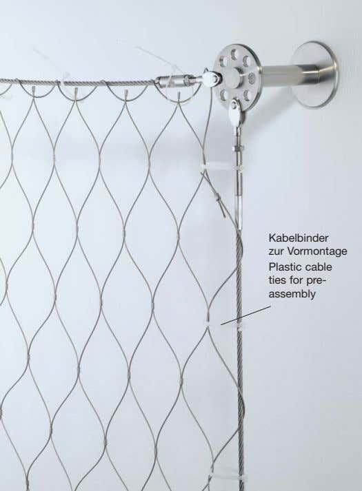 Kabelbinder zur Vormontage Plastic cable ties for pre- assembly
