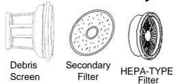 Debris Secondary HEPA-TYPE Screen Filter Filter