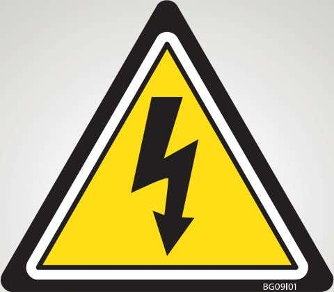 Electrical safety12 Electrical safety You or your team can be electrocuted and/or cause a fire or