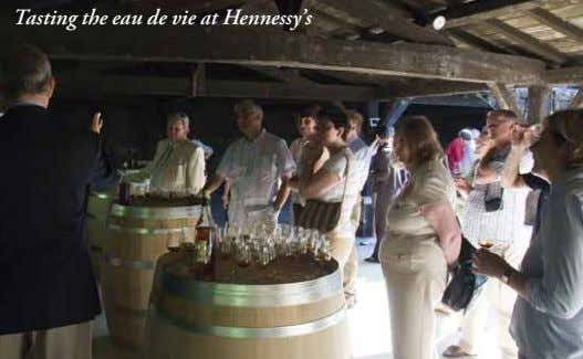 Tasting the eau de vie at Hennessy's