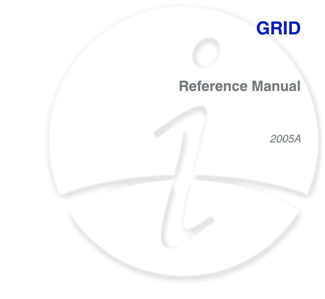 GRID Reference Manual 2005A