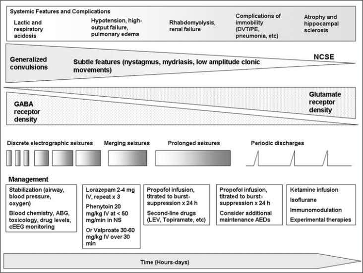 THE CANADIAN JOURNAL OF NEUROLOGICAL SCIENCES Figure 1: Clinical and physiologic changes over time in Status