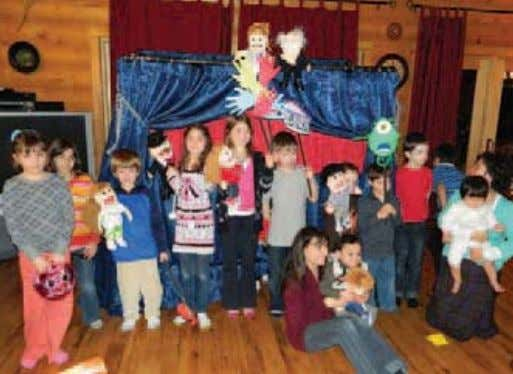 sale, which was wonderful to have throughout the weekend. A puppet show at the winter retreat