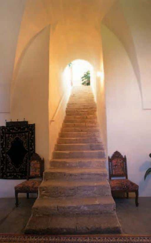 Spiritual Assembly or your Local Spiritual Assembly. Main staircase inside the Mansion of Mazra'ih. Photo: