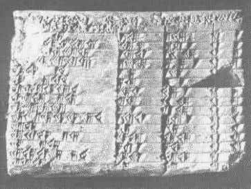 with an impetus for early work on trigonometry ' . Fig 1. Babylonian Plimpton 322 at