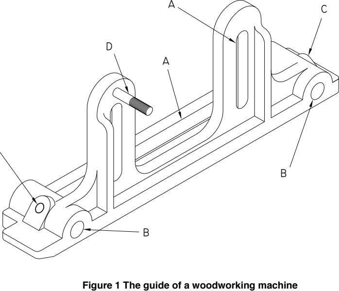       Figure 1 The guide of a woodworking machine
