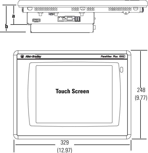 a b Touch Screen 248 (9.77) 329 (12.97)