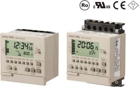 only on 2-circuit models. Available only on weekly models. Easier, More Convenient Time Switches, with New