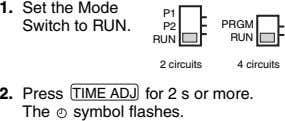 1. Set the Mode Switch to RUN. P1 P2 PRGM RUN RUN 2 circuits 4