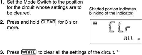 1. Set the Mode Switch to the position for the circuit whose settings are to