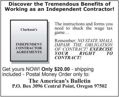 Discover the Tremendous Benefits of Working as an Independent Contractor! Clarkson's The instructions and forms