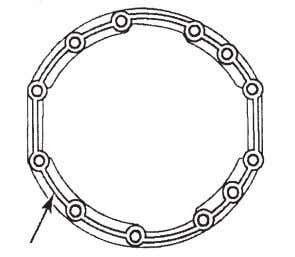 "Do not use ThreeBond1216E sili- cone products. Figure 4.12. DIAMETER SILICONE GASKET BEAD 0,25"" (6MM Figure"