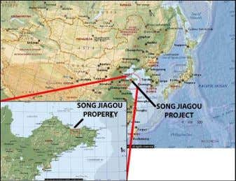 1. Map of China, showing location of Song Jiagou asset. Source: MJS (edited) Properties and subsidiaries