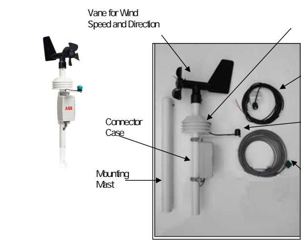 Vane for Wind Speed and Direction Connector Case Mounting Mast
