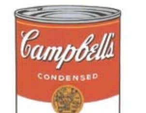 Andy Warhol Campbell's Soup I - Black Bean , 1968 Screenprint 88.9 x 58.4 cm (Edition