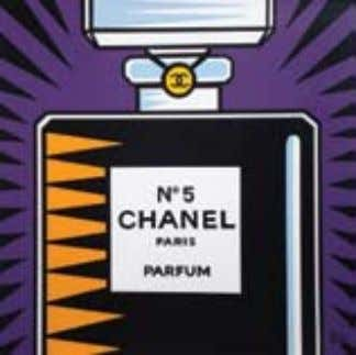 Chanel triptych , 2008 Acrylic on canvas 76.2 x 76.2 cm also extends to include two