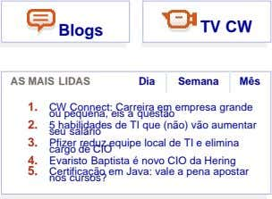 TV CW Blogs AS MAIS LIDAS Dia Semana Mês 1. ou CW pequena, Connect: eis