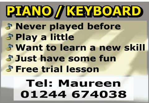 PIANO / KEYBOARD Never played before Play a little Want to learn a new skill