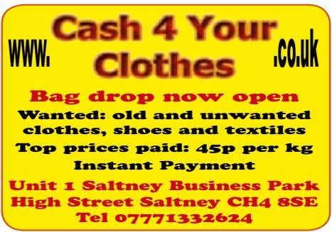 www. .co.uk Bag drop now open Wanted: old and unwanted clothes, shoes and textiles Top