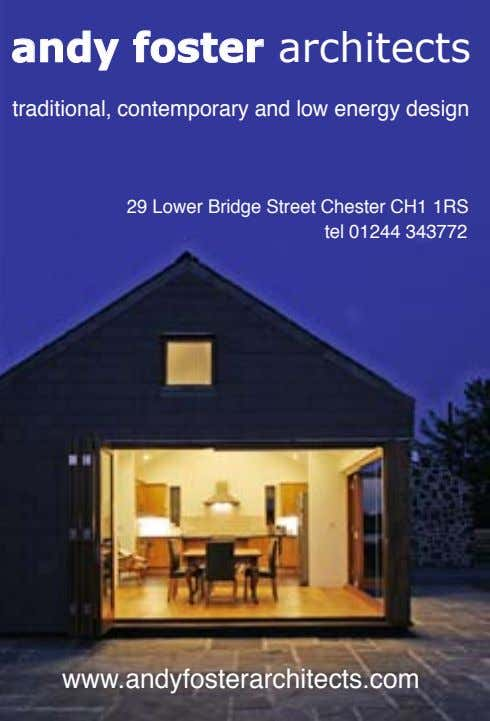 andy foster architects traditional, contemporary and low energy design 29 Lower Bridge Street Chester CH1