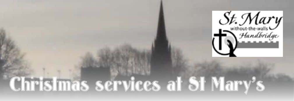 Christmas services at St Mary's