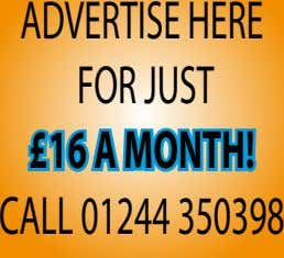 ADVERTISEHERE FORJUST £16aMONTH! CALL01244350398
