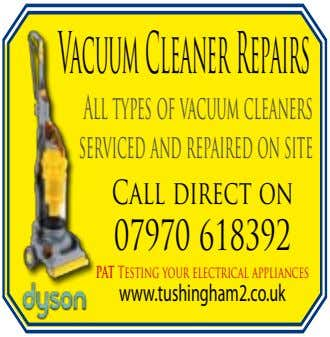 VacuumCleanerRepairs All types of vacuum cleaners serviced and repaired on site Call direct on 07970