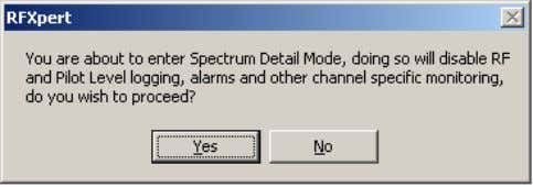 No tab takes you back to the previous tab you were viewing. Figure 34. Entering Spectrum