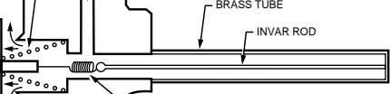 BRASS TUBE INVAR ROD