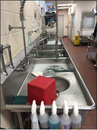 (USDA) food commodities and reimbursement claims. 5 7 Sink with broken garbage disposal at Luke C.