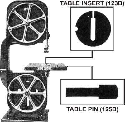 taBle inSert (123B) taBle pin (125B)