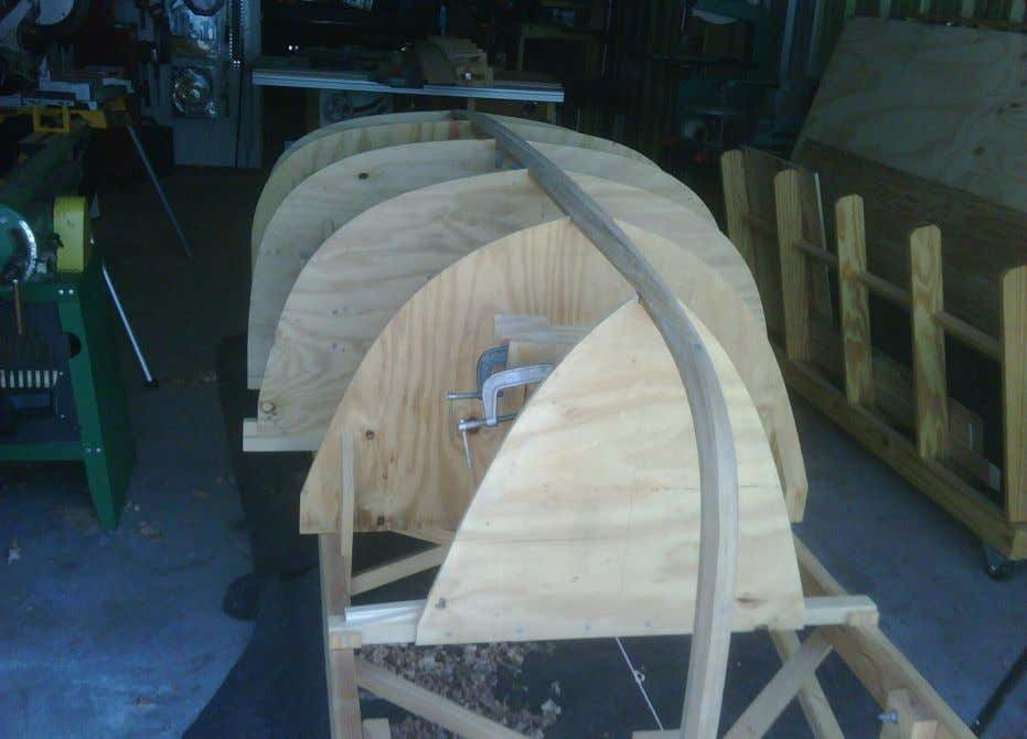 First Celebration: Stem and transom are laid up. (White Oak stem and Western Red Cedar