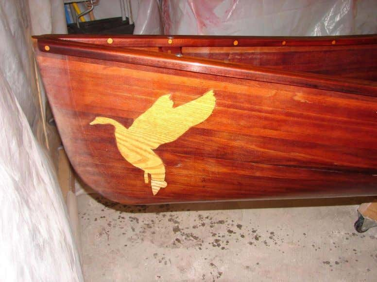 Spinoff Projects Redwood Strip-built Canoe Restoration (after)