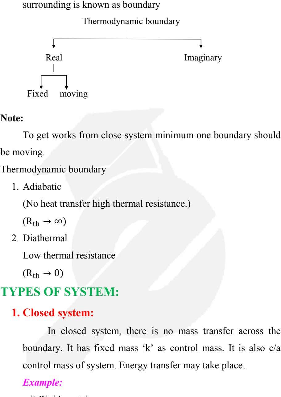 Thermodynamic boundary Real Imaginary Fixed moving Note: To get works from close system minimum one