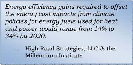 Energy efficiency gains required to offset the energy cost impacts from climate policies for energy