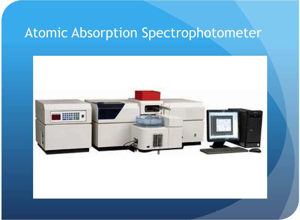 Atomic Absorption Spectrophotometer