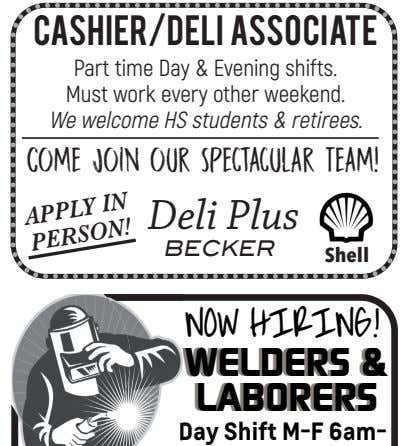 CASHIER/DELI ASSOCIATE Part time Day & Evening shifts. Must work every other weekend. We welcome HS