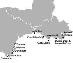 Lyme Bay Purbeck Peninsula Weymouth Chesil Beach Portland Bill Durdle Door & Lulworth Cove Torquay
