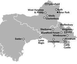 Tyntesfield West Harptree Bath & Priddy Prior Park Wells Glastonbury Shaftesbury Sherborne Kingston Lacy