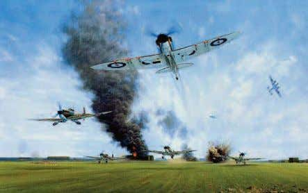 achieved by low level raids flying beneath the radar screen. OilpaintingbyGeraldCoulsonshowingemergencytake off by No 65