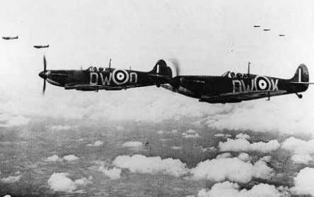 approximately the same number of single engine fighters. 603 Squadron Spitfires patrol the sky in June