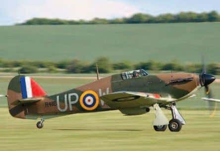 and many battle damaged examples made it back to base. Modern image of the Hawker Hurricane