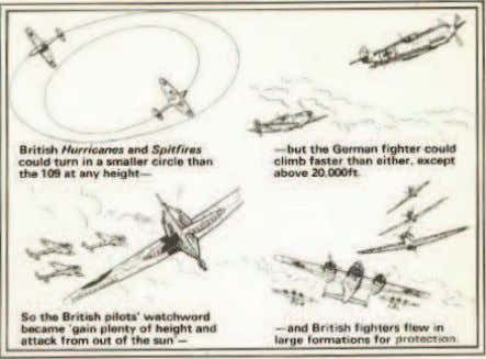 the enemy. Thus, German fighters could attack almost unseen. Both sides' pilots tried to play to