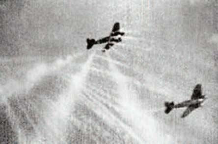who were brave enough reduced this further to only 50 yards. Tracer bullets fly at formation