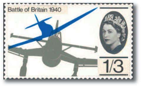 Anniversary Commemorative Special Edition September 2010 This post war celebratory stamp showing a spitfire coming